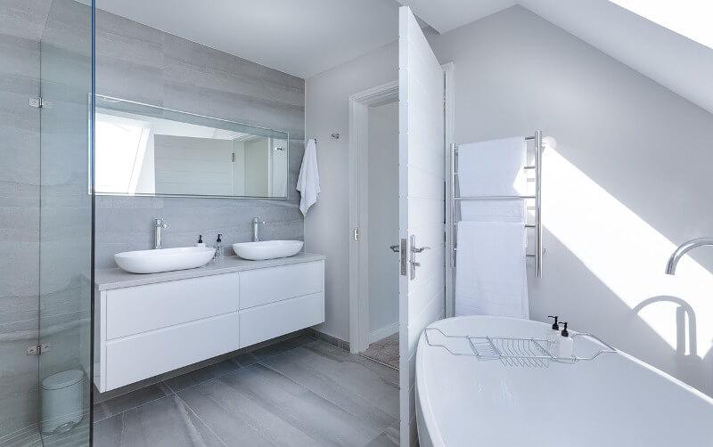 diseño baño plato ducha bañera